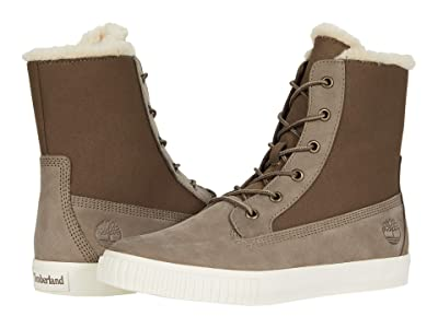 Timberland Skyla Bay Fleece Fold-Down (Olive Nubuck) Women