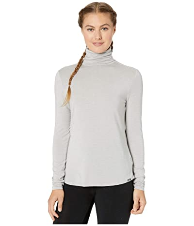 Prana Foundation Turtleneck (Light Grey Heather) Women