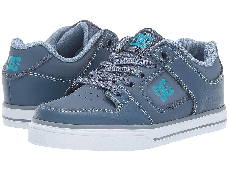 DC Kids Pure Elastic (Little Kid/Big Kid) (Blue/Blue/Blue) Boys Shoes