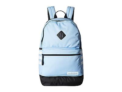adidas Classic 3S III Backpack (Glow Blue/Black/White) Backpack Bags