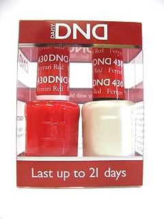 DND Gel & Matching Polish Set #430 - Ferrari Red . Buy 5 any colors get 1 Diamond super fast drying top coat 0.5 oz Free