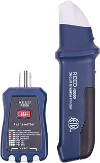 Reed Instruments R5500 3-in-1 Circuit Breaker Finder/Receptacle/GFCI Tester, Blue/Black