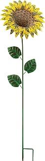 Regal Art &Gift Giant Rustic Flower Stake, Sunflower