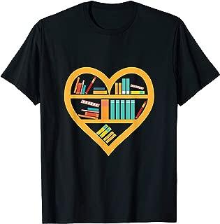 I Love Reading - Heart Love Books Gift Reading Club T-Shirt