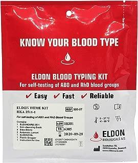 Blood Type Test Kit - 2 Tests - Eldoncard Home Blood Testing Kits (Complete Kit)