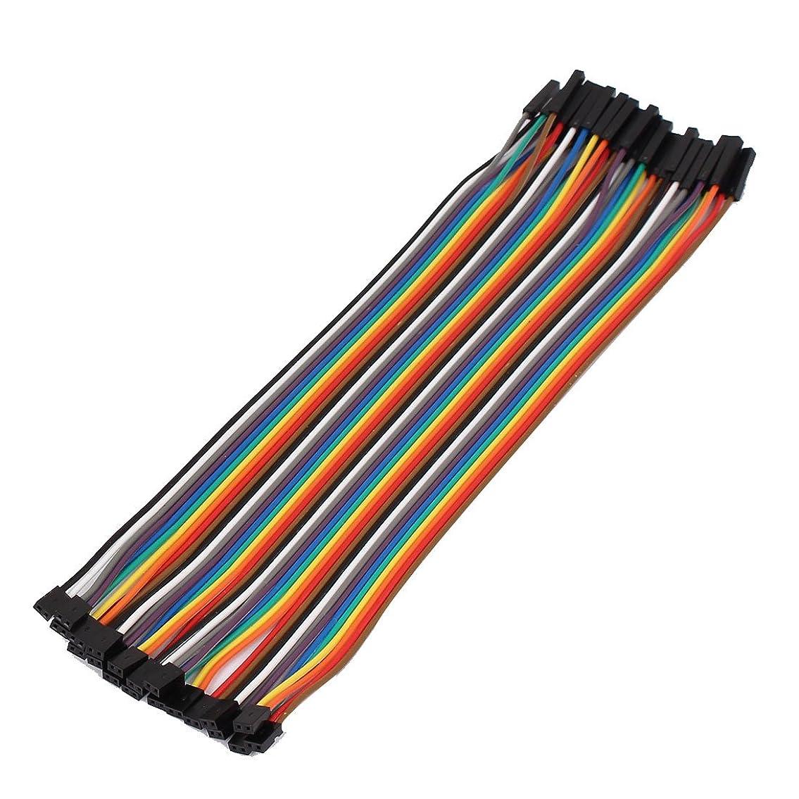 飲料横向きバレルuxcell ジャンパーワイヤ 柔軟 ケーブル 40ピン 2P-1P 2.0mmメス- 2.54mmメス 20cm長さ