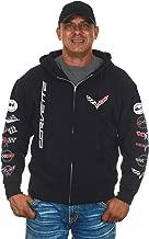 JH DESIGN GROUP Men's Chevy Corvette Hoodies Pullover & Zip Up Sweatshirts in 6 Styles