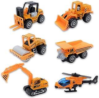 Nash 建設 車両 6 セット ミニカー はたらく車 工事 現場 砂場 おもちゃ ヘリコプター