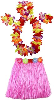 AniiKiss 1 Set 40cm Kids Party Hawaii Dress Hula Grass Skirt - Double Layer Thickened HawaiiSkirt