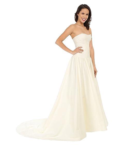 Vintage Inspired Wedding Dress | Vintage Style Wedding Dresses Nicole Miller Laurel Silk Faille Bridal Gown Antique White Womens Dress $1,090.00 AT vintagedancer.com