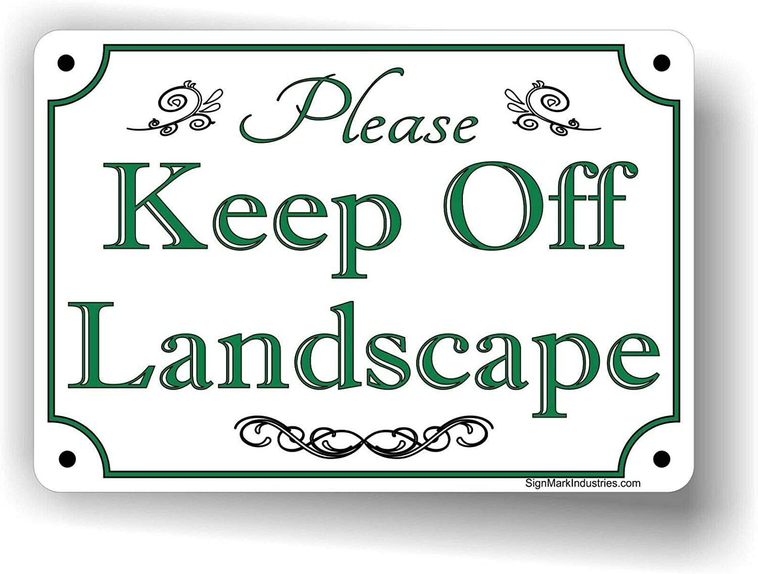 Please Super popular specialty Product store Keep Off Landscape Tin Landscaping 12 Sign