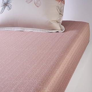 Hugo Boss - Drap Housse Peach Blossom Coton Multicolore 160 X 200 cm 120 Fils