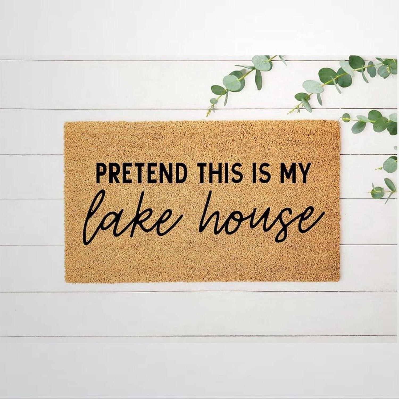 Pretend El Paso Mall Ranking TOP6 This is My Lake House Rustic Doormat Coir Door Welcome M