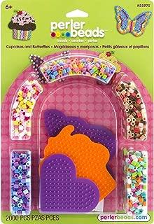 Perler Beads Cupcakes and Butterflies Craft Kit for Kids, 2005 pcs