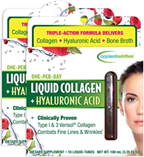 Applied Nutrition Liquid Collagen + Hyaluronic Acid 10 Count (Pack of 2)