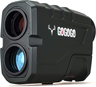 Gogogo Sport Hunting Rangefinder -1200 Yards Laser Range Finder for Hunting and Golf with Speed, Slope, Scan and Normal Measurements - Rechargeable - with USB Cable