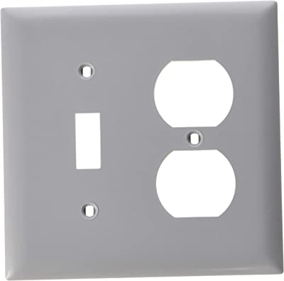 Legrand Pass Seymour Tp18gry Combination Openings 1 Toggle Switch 1 Duplex Receptacle Two Gang Brown 2 Gray Switch And Outlet Plates Amazon Com