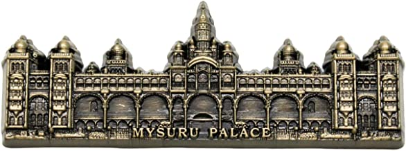Mysuru Palace Embossed Metal Fridge Magnet (Bronze)