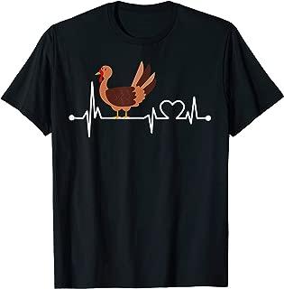 Turkey Heartbeat Funny Farmer/Farming/Farm Cool Love Gift T-Shirt