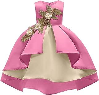 2-9T Flower Girl Dress Kids Wedding Pageant Formal Midi Dresses