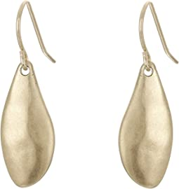 Small Metal Petal Drop Earrings