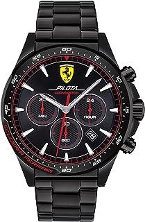 Ferrari Pilota Men's Black Dial Silicone Watch - 830624