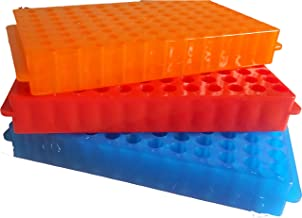 KINNOSE Tube Rack Double Panel 96-Well Polypropylene PCR، سانتریفیوژ لوله نگهدارنده لوله برای لوله های Microcentrifuge لوله های 0.2 / 0.5 / 1.5 / 1.8 / 2.0ml 3Pcs