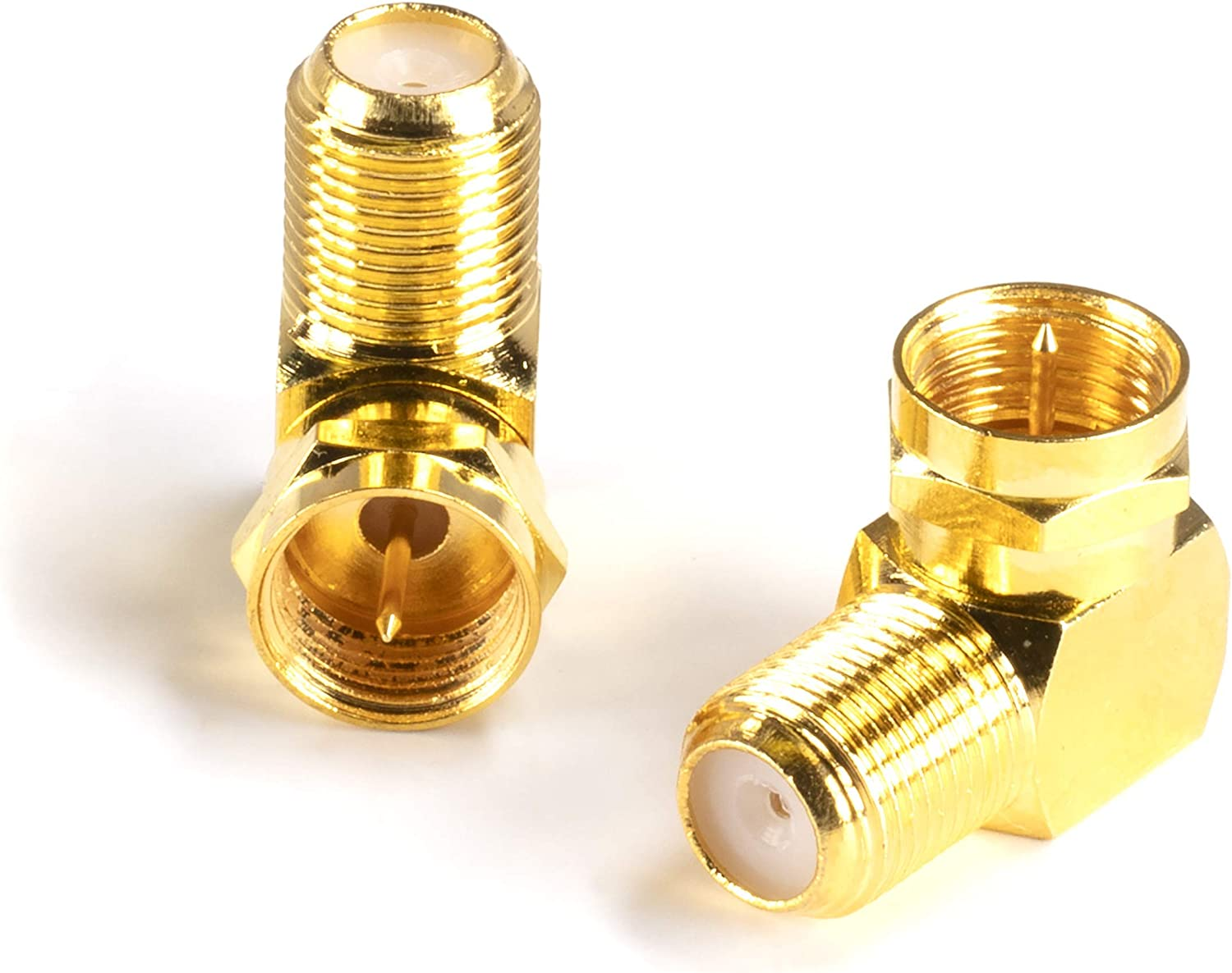 Gold Max 78% OFF Coaxial Cable Right Angle Connector - Tight Brand Cheap Sale Venue 10 Pack for C