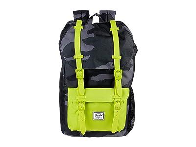 Herschel Supply Co. Kids Herschel Little America Backpack (Little Kids/Big Kids) (Night Camo/Lime Punch) Backpack Bags