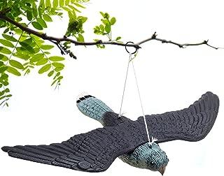cyclamen9 Flying Hawk Decoy Bird Deterrent, Premium Lifelike Bird Repellent Fake Flying Hawk Decoy, Pest Control Garden Cat Bird Repeller Gardens, Scares Foraging Birds from Outdoor Areas