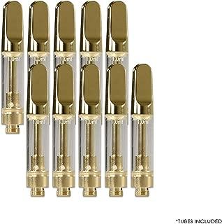 50 パック 0.5 / 1ml セラミック 芯なしカートリッジ O-i-l および D-i-s-t-i-l-l-a-t-e Acessaries For C-C-E-L-L 1ml ゴールド