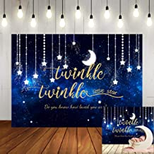 Twinkle Twinkle Little Star Baby Shower Backdrop for Boy Fairy Tale Theme Shining Star and Moon Galaxy Space Photo Background Twinkle Twinkle Little Star Birthday Party Decorations for Kids