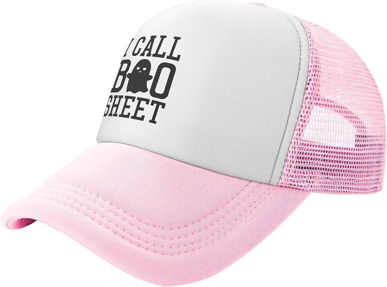 Myshe Summer Mesh Fashionable Baseball Cap I Boo Halloween Sheet Funny Call Max 45% OFF