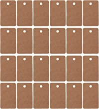 TOYANDONA 200pcs Christmas Hanging Gift Tags Kraft Paper Note Tags Wrapping Label Package Name Card Mini Holiday Greeting ...