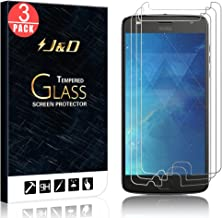J&D Compatible for 3-Pack Moto Z2 Play Glass Screen Protector, [Tempered Glass] [Not Full Coverage] Ballistic Glass Screen Protector for Motorola Moto Z2 Play Screen Protector