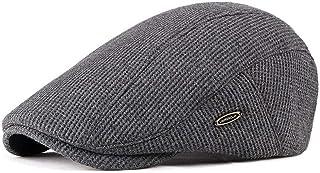 Men' Hat Visor Knit Newsboy Beret Caps Outdoor Casual Winter Cabbie Ivy Flat Hat Hats & Caps (Color : Bronze)