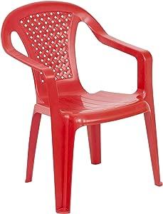 URBNLIVING Camelia Plastic Children s Chair Red  Quantity
