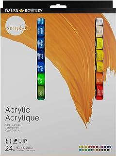 Tinta acrílica Simply Daler Rowney estojo 24 cores