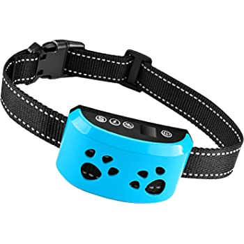 TOTIE Dog Bark Collar 2020Upgrade-7 Adjustable Sensitivity and Intensity Levels-Triple Anti-Barking Modes Rechargeable/Rainproof/Reflective -No Barking Control Dog Collar for Small Medium Large Dogs