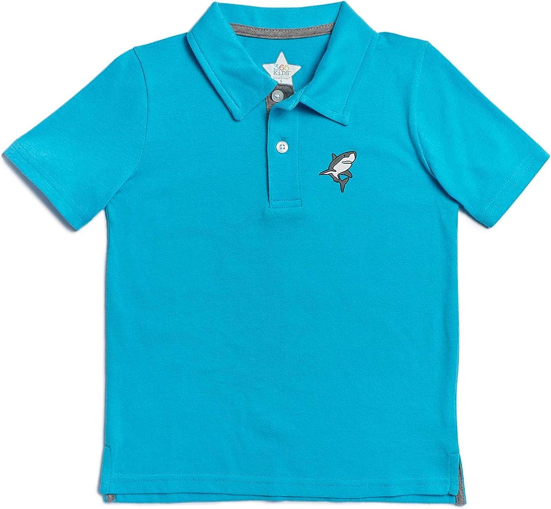 Garanimals 365 Kids Boys Short Sleeve Solid Shark Polo