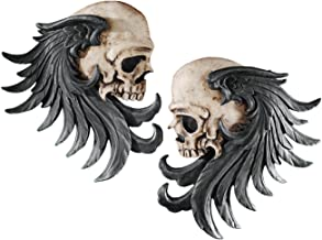 Bad to The Bones Winged Skull Sentinel Wall Sculpture (Set of Two) [Kitchen]