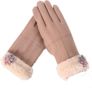TIKIYOGI Womens Winter Touch Screen Windproof Warm Lined Smart Texting Gloves