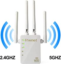 5GHz WiFi Range Extender - 1200Mbps WiFi Long Range Extender Repeater/Access Point/Router Dual Band Wireless Signal Booster & Ethernet Port WiFi Range Amplifier 4 External Antennas
