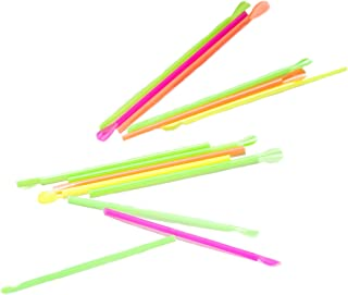 """Perfect Stix Neon Concession Spoon Straw, Unwrapped, Assorted Colors, 8"""" Length (Pack of 10,000)"""