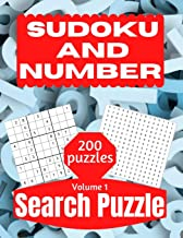 Sudoku And Number Search Puzzle: Large Print Activity Puzzle Book for Adults and Seniors with Solutions Vol 1