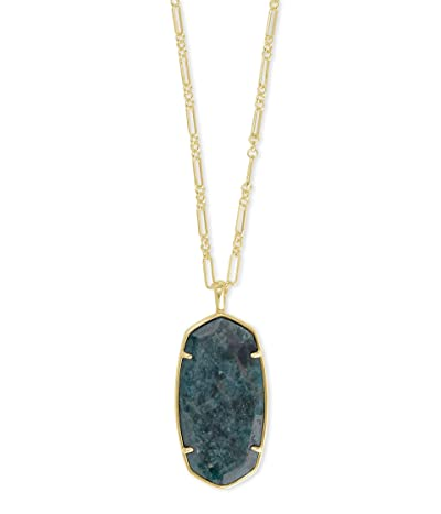 Kendra Scott Faceted Reid Necklace (Green Apatite) Necklace