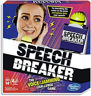 Hasbro E1844 Speech Breaker - Electronic Voice Jamming Challenge - Fun interactive Family Game - Ages 14+ Brown
