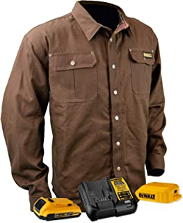 DEWALT DCHJ081 Heated Heavy Duty Shirt Jacket with 2.0Ah Battery and Charger