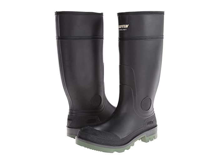 Baffin  Enduro Plain Toe (Black/Clear/Green) Mens Boots