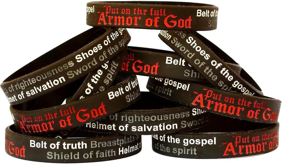 SayitBands 15 Child Armor of Ephesians 6 Wristband Max 90% OFF Selling Bracelets God